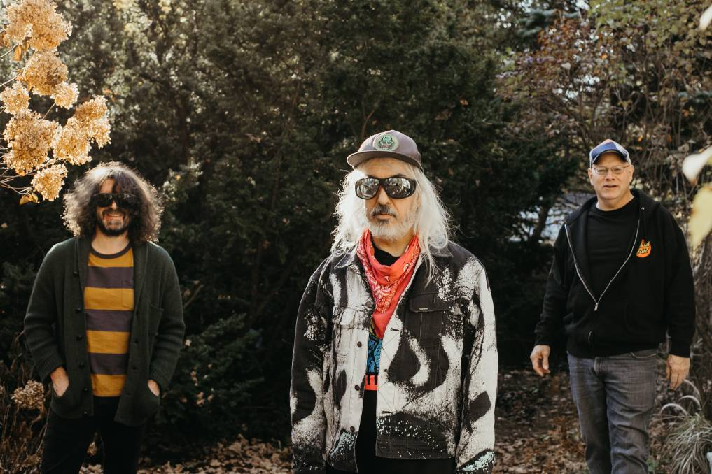 AGELESS: Dinosaur Jr are, from left, Lou Barlow (bass), J Mascis (guitar, vocals) and Patrick Murphy (drums).